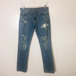 Levi's 511  Ripped Distressed Jeans. Size 30/32